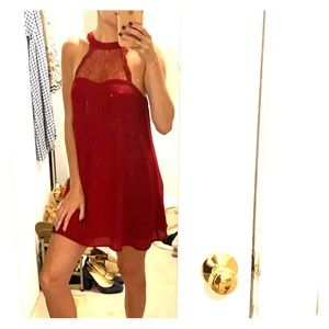Garnet high neck Dress